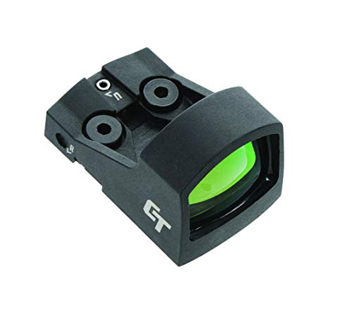 Crimson Trace CTS-1550 Ultra Compact Open Reflex Pistol Sight with LED 3.5 MOA Red Dot and Integrated Co-Witness for Compact and Subcompact Handguns, Black