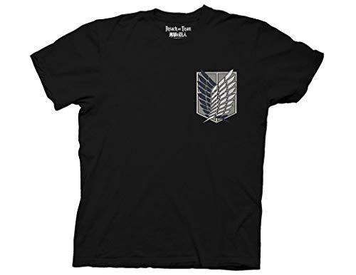 Ripple Junction Attack on Titan Survey Corps Adult T-Shirt Medium Black Ripple Junction