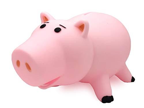 Hucha de plástico con diseño de cerdito de cerdo rosa con paquete de color, gran regalo para niños, niñas, niños y niñas