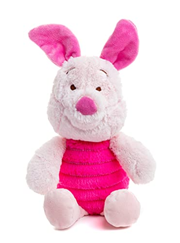 """Disney Baby Winnie The Pooh and Friends Stuffed Animal with Jingle and Crinkle, Piglet 14"""""""