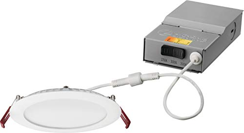 Lithonia Lighting WF6 27K30K35K 90CRI MW M6 LED Color Temperature Selectable Ultra Thin Recessed Downlight, 2700K | 3000K | 3500K, 6-Inch, White
