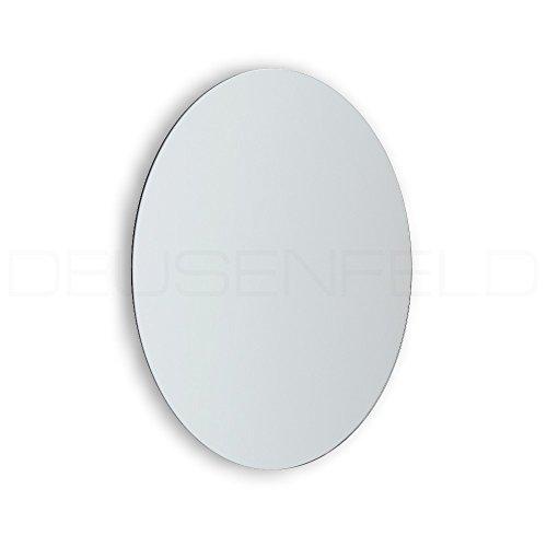 DEUSENFELD KK5-15 - Klebespiegel Kosmetikspiegel selbstklebend, Schminkspiegel, Rasierspiegel zum Kleben, 5-Fach Vergrößerung, Ø 15cm, rund, randlos, Kristallglas, mit 3M Klebepads