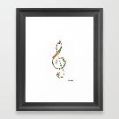 G clef Framed Art Print by schinako | Society6