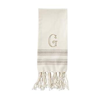 Mud Pie G Initial Turkish Hand Towel  Size 38  x 20