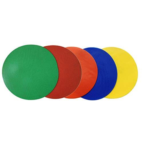 LIOOBO 10 Stks Cirkel Landmark Pad Ronde Platte Zachte Teken Disc Obstakel Logo Plaat Voetbal Hindernis Training Apparatuur