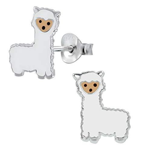Sterling Silver Llama Alpaca Animal Earrings Gift