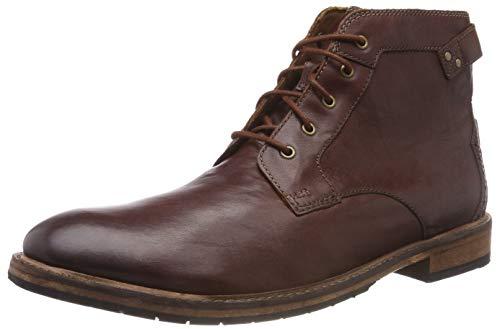 Clarks Herren Clarkdale Bud Klassische Stiefel, Braun (Mahogany Leather), 45 EU