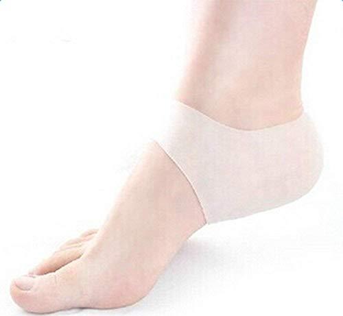 Li-ly 2 paires de chaussettes à talons protectrices hydratantes en silicone Chaussettes pour manchons de talons fissurés et durs Soin de la peau des p