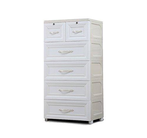 noyydh Gabinete de Almacenamiento de cajón de Estilo Europeo Caja de Almacenamiento de Almacenamiento de Armario de plástico Grande for niños Dormitorio Sala de Estar Cajonera (Color : White)