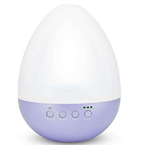 350ml Ultrasonique Aromathérapie Humidificateur Lampe à Huile Diffuseur Silencieuse avec 7 Lumières LED Colorées pour La Chambre De Bébé, Maison, Spa,Purple