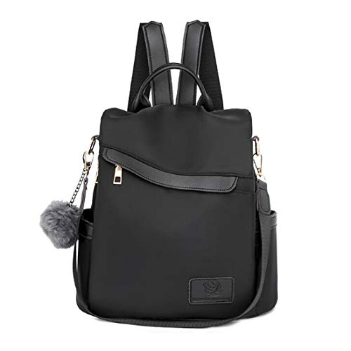 Youlity Women Backpack Anti Theft Travel Rucksack Lightweight Stylish Daypack School Shoulder Bag Waterproof Ladies Fashion Handbag Tote Bag Girls Gift (Black2)