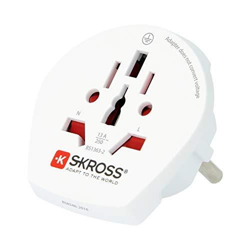 Skross Single Travel Adapter - Europe - Inversor de corriente, color blanco