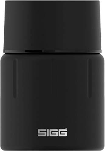 SIGG Gemstone Food Jar Obsidian (0.5 L), isolierter Essensbehälter für Büro, Schule und Outdoor, Thermobehälter aus hochwertigem 18/8 Edelstahl, Matt Black