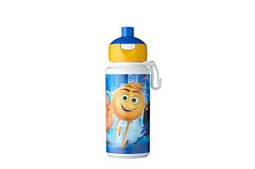 Mepal trinkflasche Campus pop-up 275 ml - Emoji, Plastik, Blau/Gelb, 7.5 x 6 x 16.9 cm