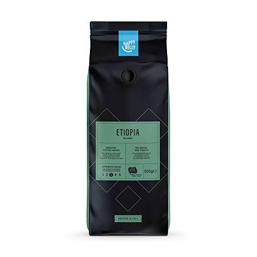"Marque Amazon - Happy Belly Café torréfié en grains ""ETIOPIA"" (2 x 500g)"