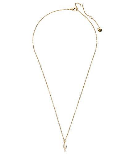SIX Halskette mit Kaktus-Anhänger und Zirkonia-Steinen, modisches Accessoire, goldfarben (590-446)