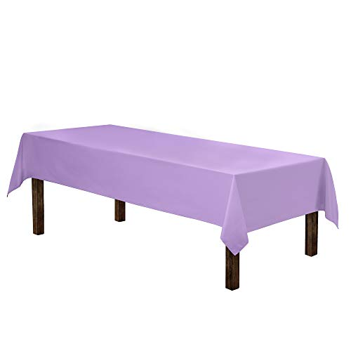 Gee Di Moda Rectangle Tablecloth - 60 x 126' Inch - Lavender Rectangular Table Cloth for 8 Foot Table in Washable Polyester - Great for Buffet Table, Parties, Holiday Dinner, Wedding & More