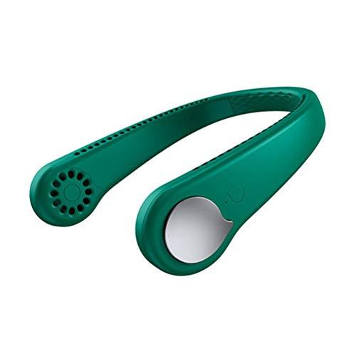 ERGOMY Ventiladores de cuello para colgar sin cuchilla, mini ventiladores – 360 ° Personal portátil USB recargable, para deportes al aire libre en el hogar y viajes
