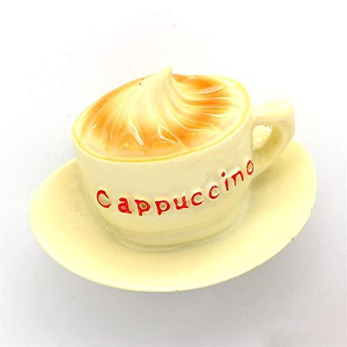 Jnyyjc Imán de Nevera Refrigerador magnético Palillo de Leche Taza de café Naranja Jugo Botella Cesta de Vino Tinto 3D imanes de refrigerador refrigerador (Color : Coffee)