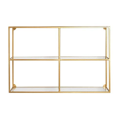 N\C Entryway Sofa Table Shelving Wall Mounted,Wall Shelf Unit Bookshelf Hanging Wall Shelves,Tempered glass Display Shelving for bedroom, office, kitchen,farmhouse 27.5×7.8×19.7in for Living