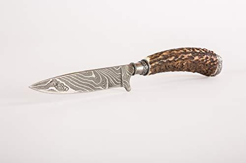 Trachtenmesser mit Damastklinge Sterling Silber