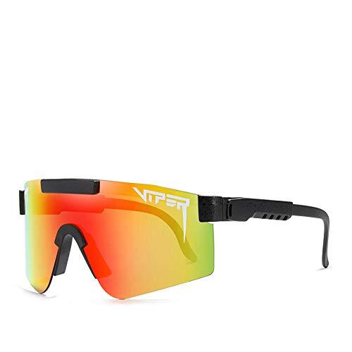 YTRFGH Gafas De Sol Polarizadas Pit Viper Sport Para Hombres Y Mujeres, Gafas A Prueba De Viento Al Aire Libre, Lentes Con Espejo Uv, Gafas Clásicas C07
