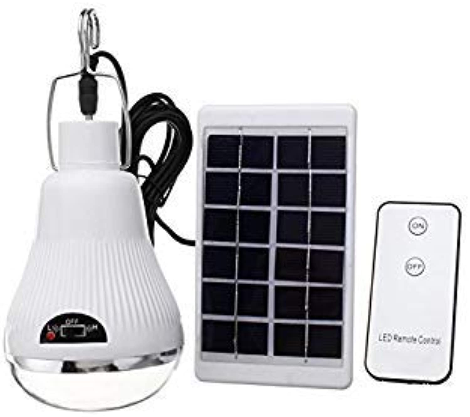 Bloomerang 6V 1W Portable Solar Panel Powered LED Light Lamp Bulb Remote Control Outdoor Camping Tent Lantern