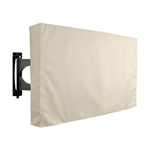 Oxford Cloth Black Portátil Portátil Pantalla Al Aire Libre TV PROTECTOR UNIVERSAL PARA TV PLASMA LCDLED Compatible Con Soportes Y Soportes De Montaje Estándar(Size:46-48 inch 29*46.5*5 inch)