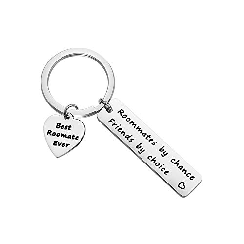SEIRAA Roommate Gift College Graduation Gift Roommate By Chance Friends By Choice Keychain Gift For Roommate (Roommate By Chance Friends By Choice)