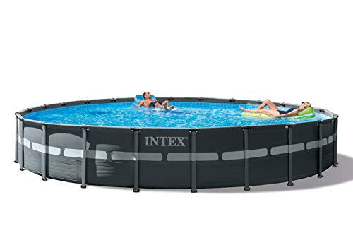 Intex 26339EH Ultra XTR Set Above Ground Pool, 24ft X 52in, Gray