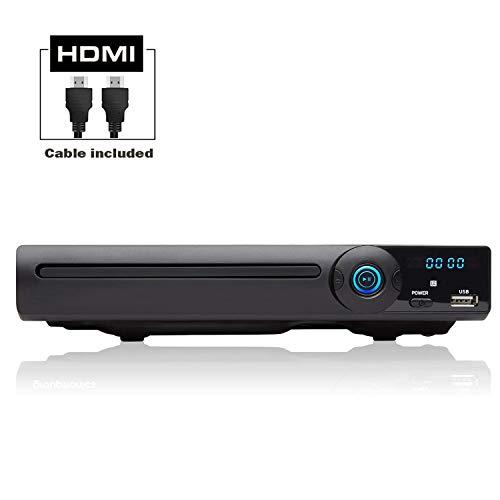 LONPOO Metalshell DVD-Player für TV, mit HDMI/SCART/Cinch /USB/ MIC Anschlüssen, All Regions Free und Vollfunktions Fernbedienung