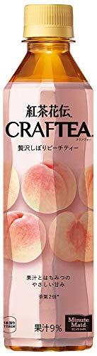 コカ・コーラ 紅茶花伝 クラフティー 贅沢しぼりピーチティー 410mlPET×24本