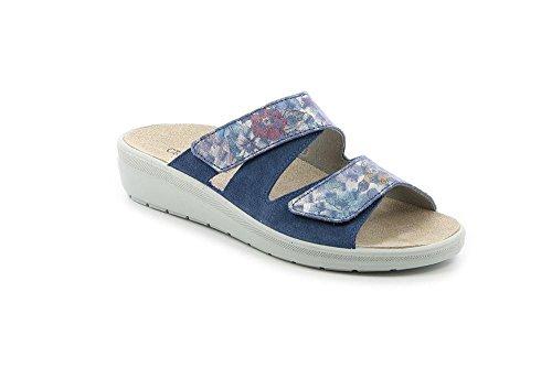 GRÜNLAND Damen Daby Pantoffeln, Blau Jean, 37 EU