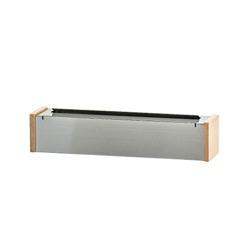 ideaco (イデアコ) ラップホルダー シルバー サイズ: W370/ D90/ H80mm Metal Factory(メタルファクトリー)