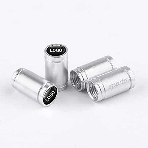 4 Piezas Tapas de Válvula de Neumático de Aluminio, para BMW 1 Series-7 Series Tapas de Válvula de Coche Prueba de Polvo con Logo del Coche Accesorios Decoración
