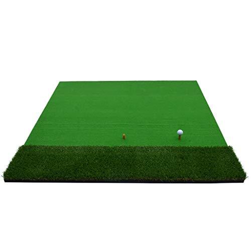 Alfombrilla de Golf, simulador de práctica, Columpio con 1 Camiseta, Grosor de Hierba de 8 mm, 59 * 59 Pulgadas