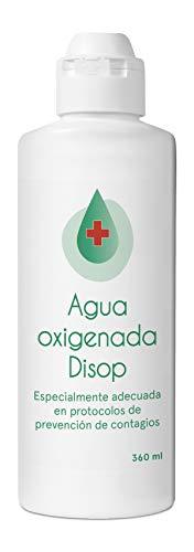 Disop Agua Oxigenada, Peróxido de Hidrógeno al 3%, 360 ml