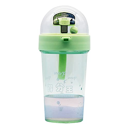 FOReverweihuajz 420ml children's water cup, creative basketball shooting game toy, leak-proof water bottle, exercise reaction ability