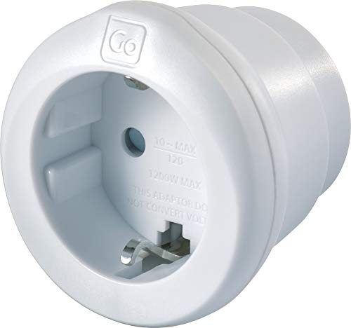 GO Travel EU–USA Adaptor Tipo C (Europlug) Tipo B Adaptador de Enchufe...