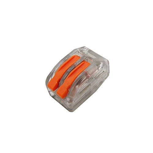 Kfdzsw Interruptor basculante Bloque de terminales de cableado de cableado de Cable Compacto con Palanca 0.08-2.5mm2 214 218 222 412 222 413 222 415 SPL-2 3 (Color : Brown)