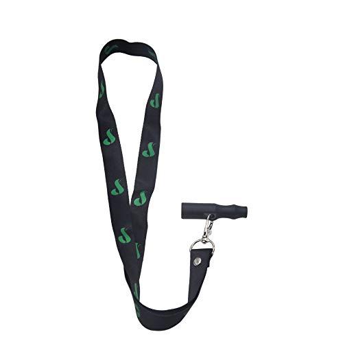 Personalidad creativa Accesorios para cachimba Boquilla de silicona con cordón Accesorios para cachimba Boquilla fácil de llevar - Negro
