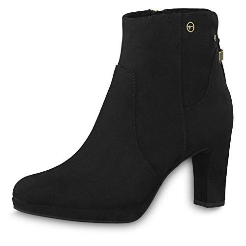 Tamaris Damen Stiefeletten 25369-23, Frauen Stiefelette, Freizeit Stiefel Boot halbstiefel Damenstiefelette Bootie Damen Frauen,Black,38 EU / 5 UK