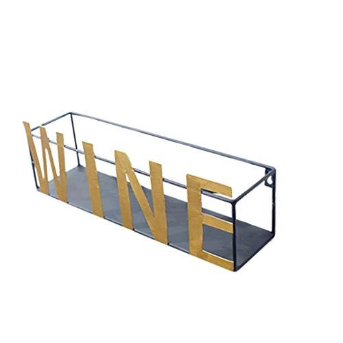 Weinregal Wand befestigten Weinregal, Flaschen- und Glashalter Eisen-Wohnzimmer-Wand hängend modernes kreatives Weinregal Wandbehang Weinregal (Farbe: Wein, Größe: L) WTZ012