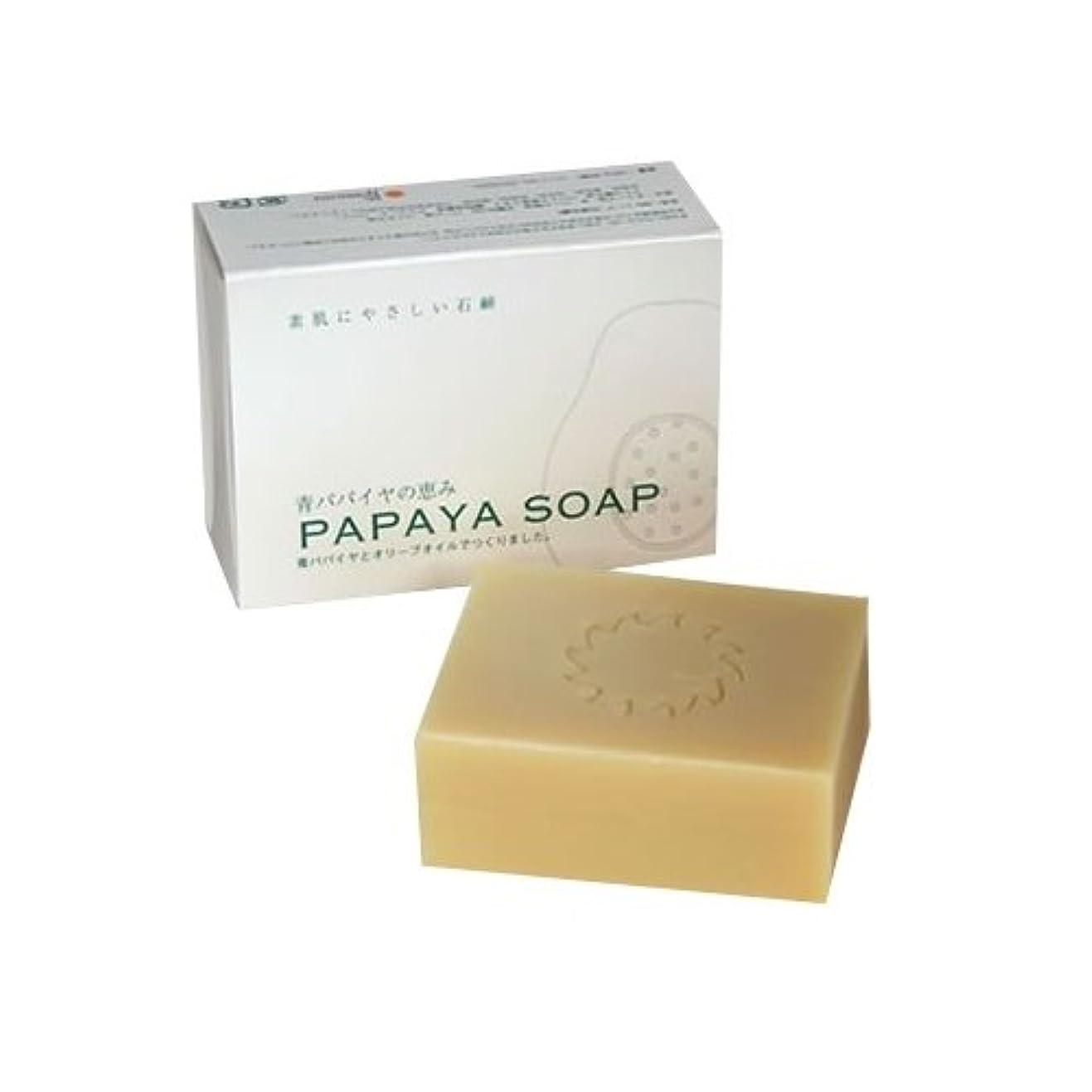 新鮮なバタフライのり青パパイヤの恵み PAPAYA SOAP(パパイヤソープ) 100g