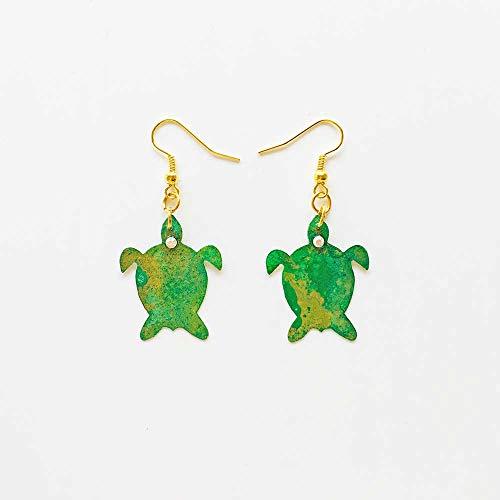 Kleine Schildkröten Ohrringe - Meerliebhaber Ohrringe - Trendschmuck - Grüne Schildkröten Schmuck - Meeresschildkröten - Neuheit Baby Schildkröten Ohrringe