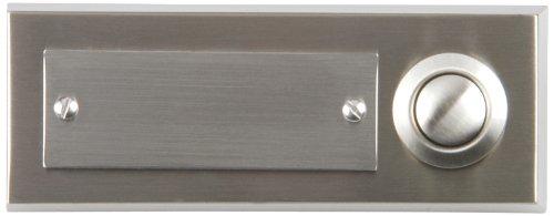 UNITEC 41104 Edelstahl-Klingeltaster 1-Fach, Aufputz
