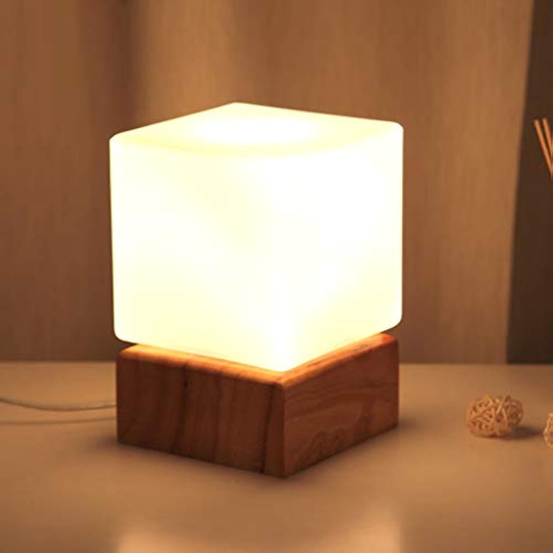 Tischlampe LED Nachtlicht Schlafzimmer Studie Glas dekorative Lampe Lampen und Beleuchtung
