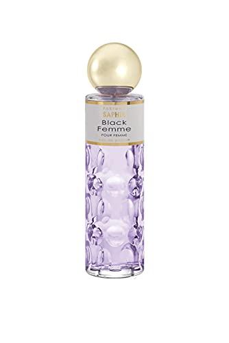 PARFUMS SAPHIR Black Femme - Eau de Parfum con vaporizador para Mujer - 200 ml