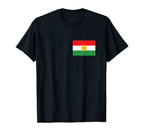 Kurdische Flagge Kurde Kurdin Motiv Rojava Kürdistan Farben T-Shirt
