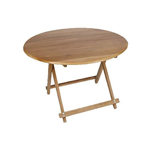 JIEER-C vrijetijdsstoelen van hout, draagbaar, klapstoel, voor buiten, draagbaar, make-uptafel Round-55cm